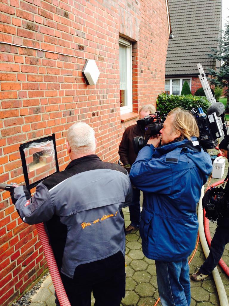 WDR Aufnahmen bei Kerndämmung