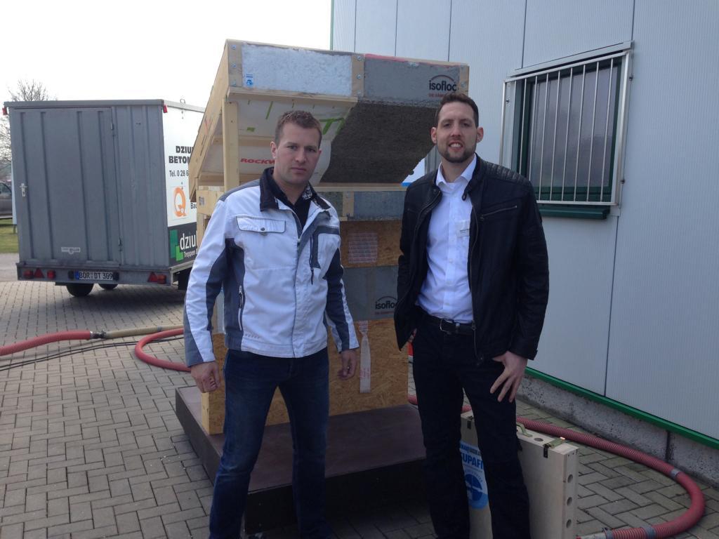 Marcel Dziuba (Inhaber) und Bernd Heitmann von Fa. Isofloc